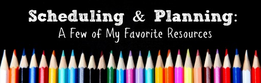 Planning & Scheduling: My Favorite Resources